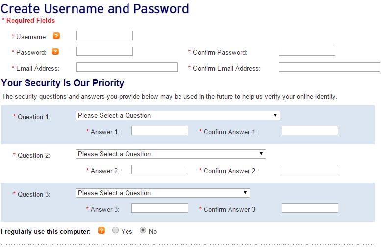 Create Username Password