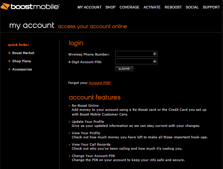 boostmobile com My Account