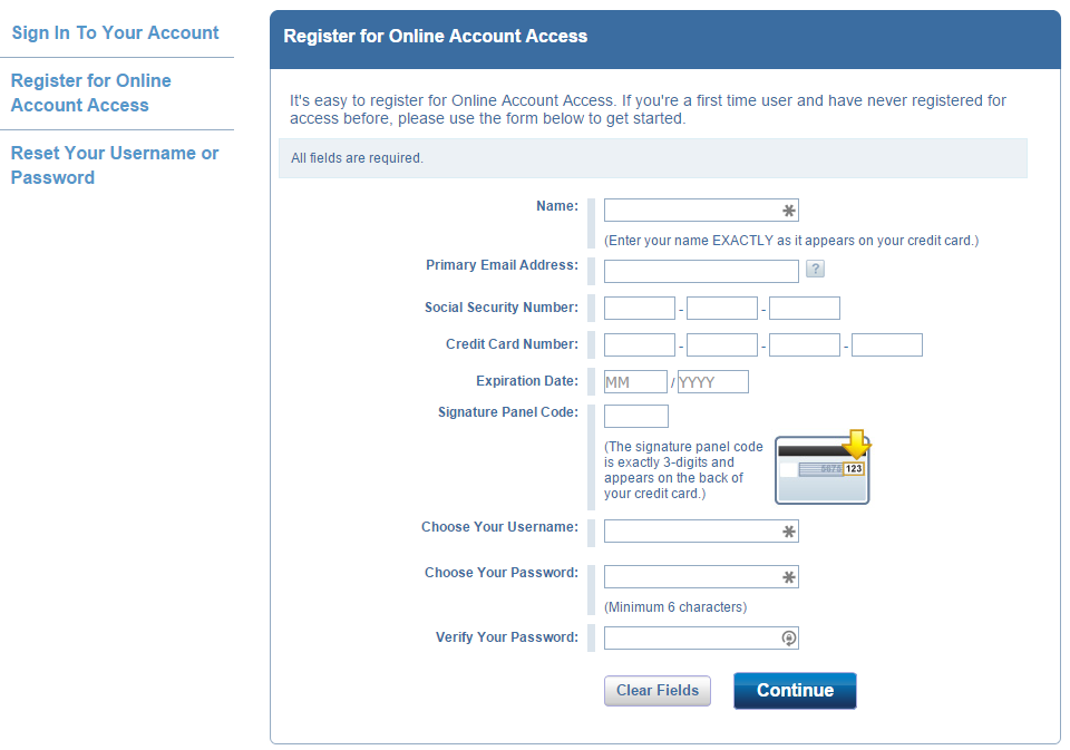 how to create capital one online account