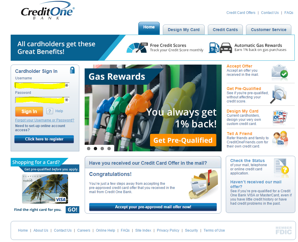 Credit One Pre Approval >> Credit One Bank Bill Pay Quick Bill Pay