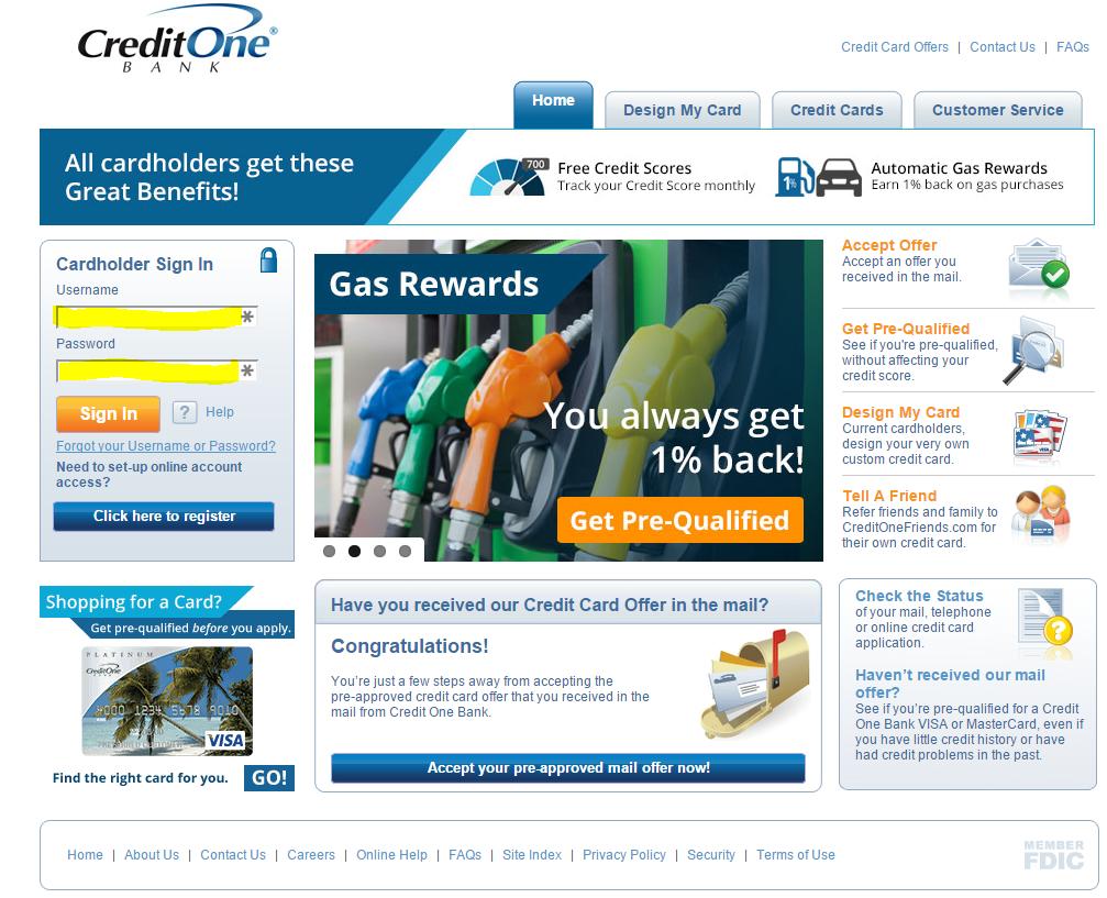 www creditonebank com