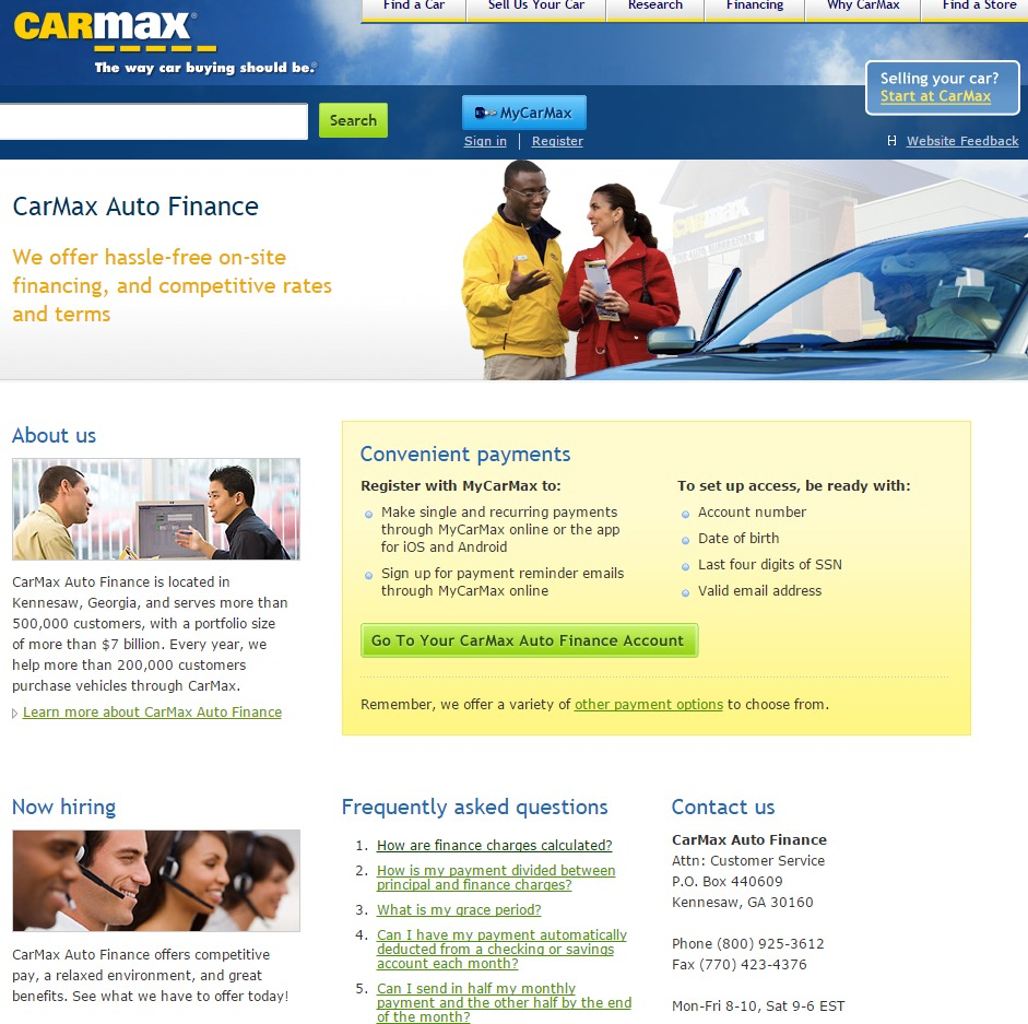 CarMax Auto Finance Pay Bill