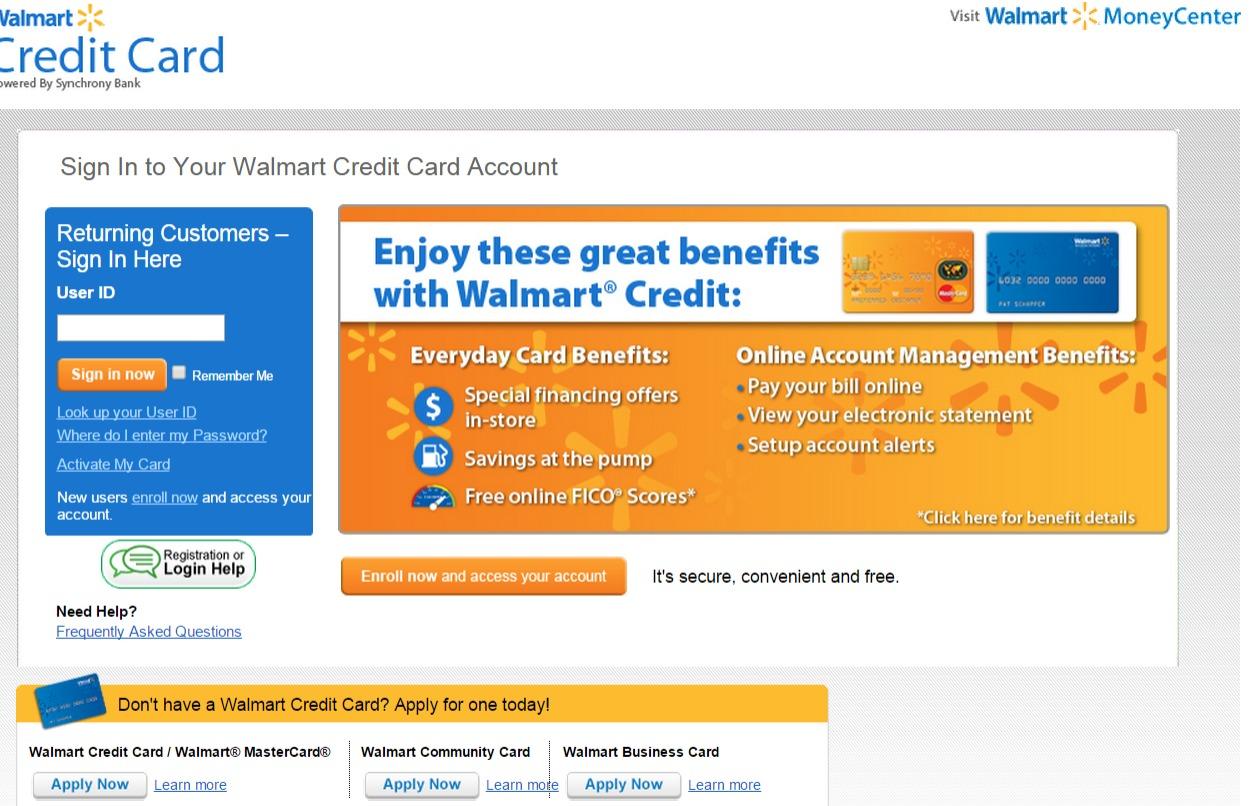 Www Walmartcreditcard Com Quick Bill Pay