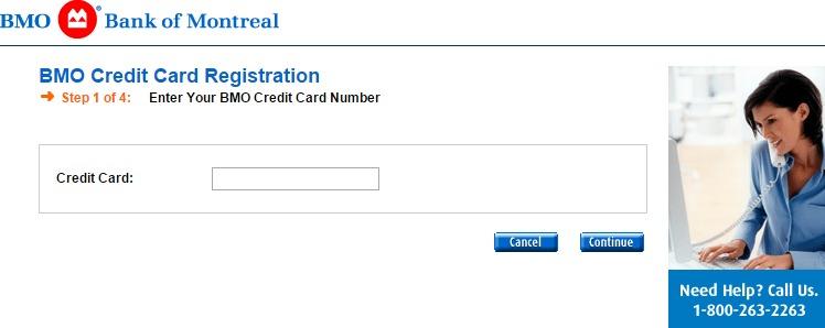 BMO Credit Card Registration