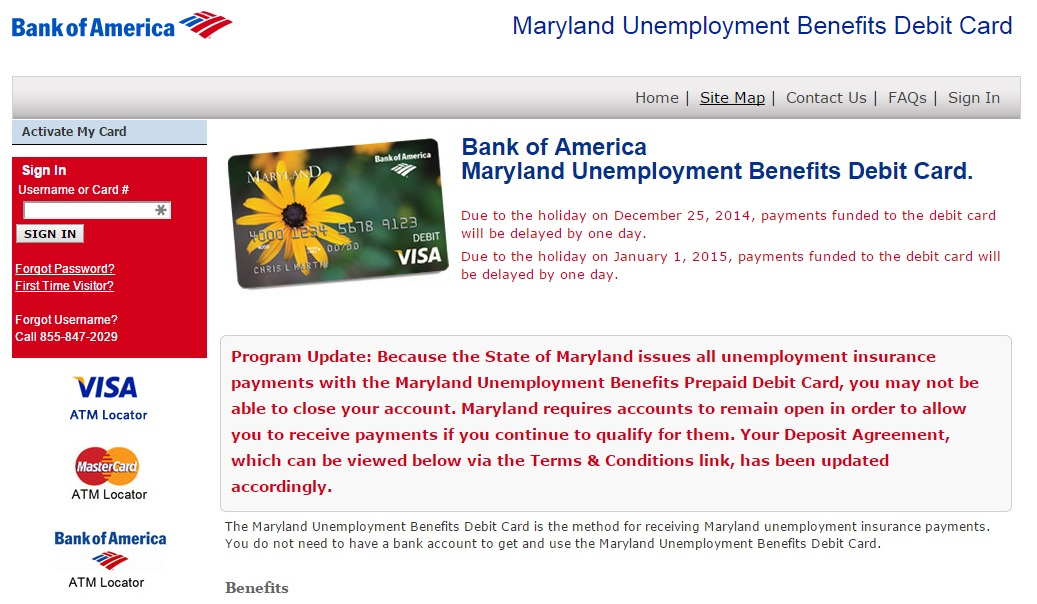 Bank Of America Unemployment Card | Gemescool.org