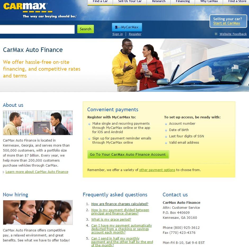 CarMax Auto Finance Pay Bill - Quick Bill Pay